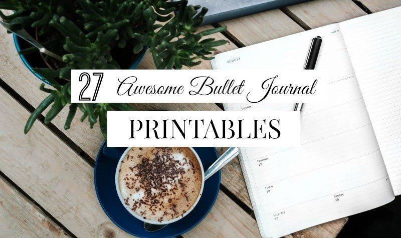 27 Free Bullet Journal Printables for 2018