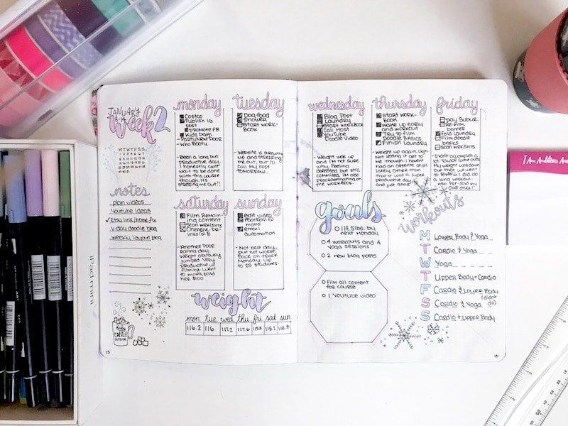7 Weekly Spreads to Try in Your Bullet Journal in 2018