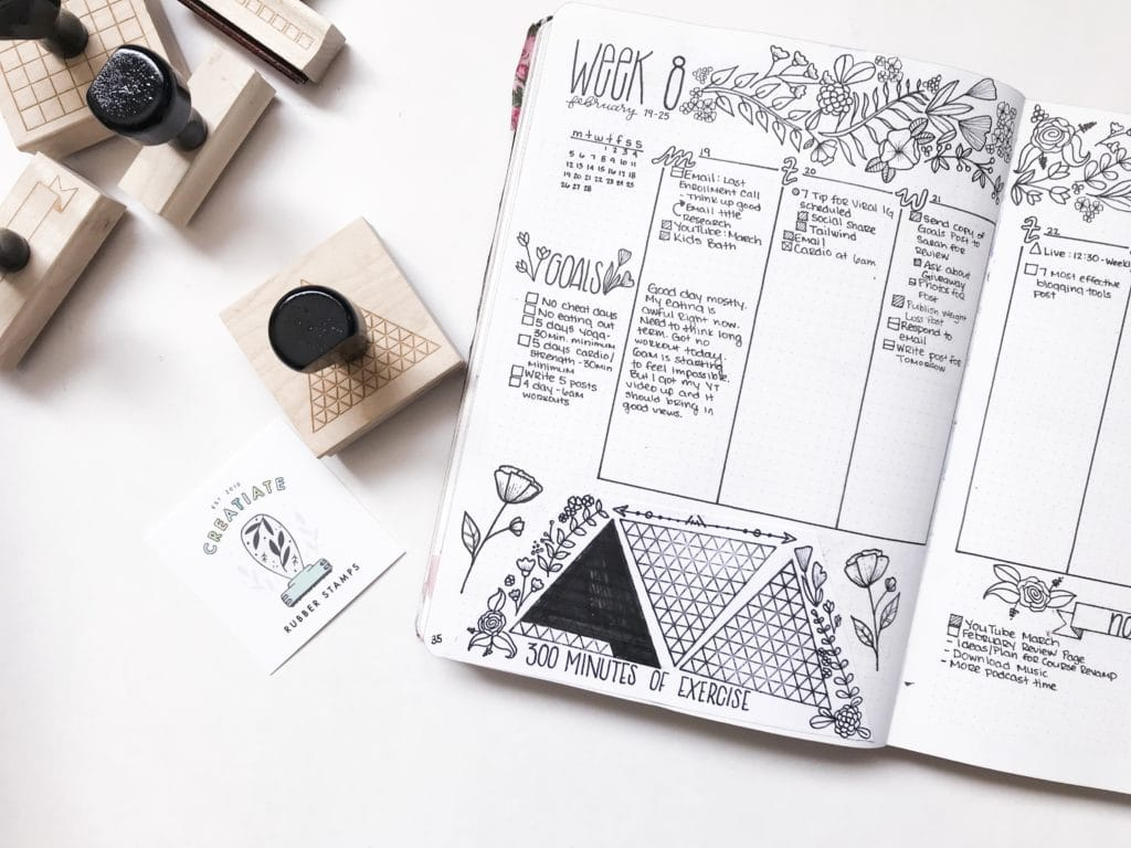 Weekly Habit Trackers for Your Bullet Journal
