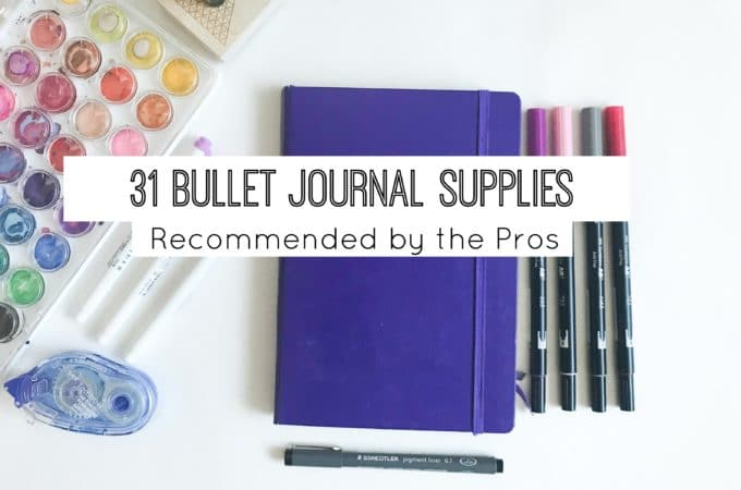 31 Bullet Journal Supplies Recommended by the Pros