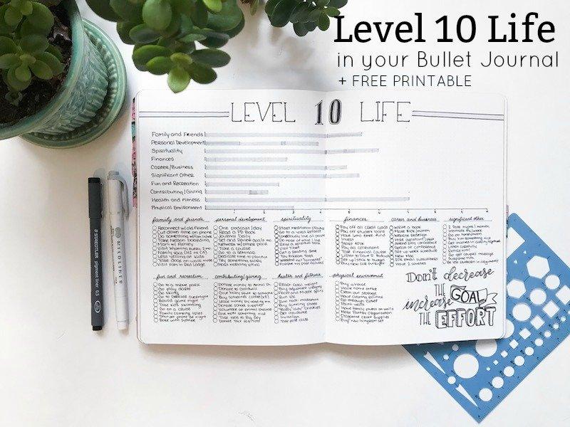 Level 10 Life plus free printable