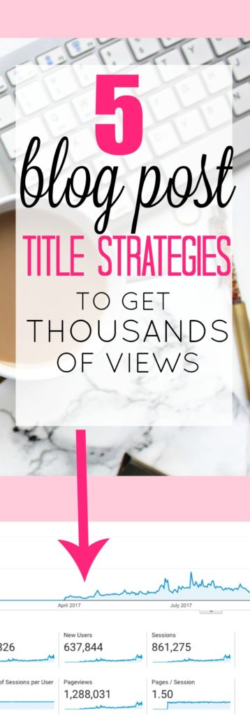 These 5 Blog Post Title Strategies will help you reach thousands of people with each post