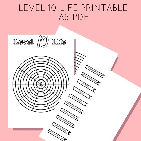 Peaceful image regarding level 10 life printable