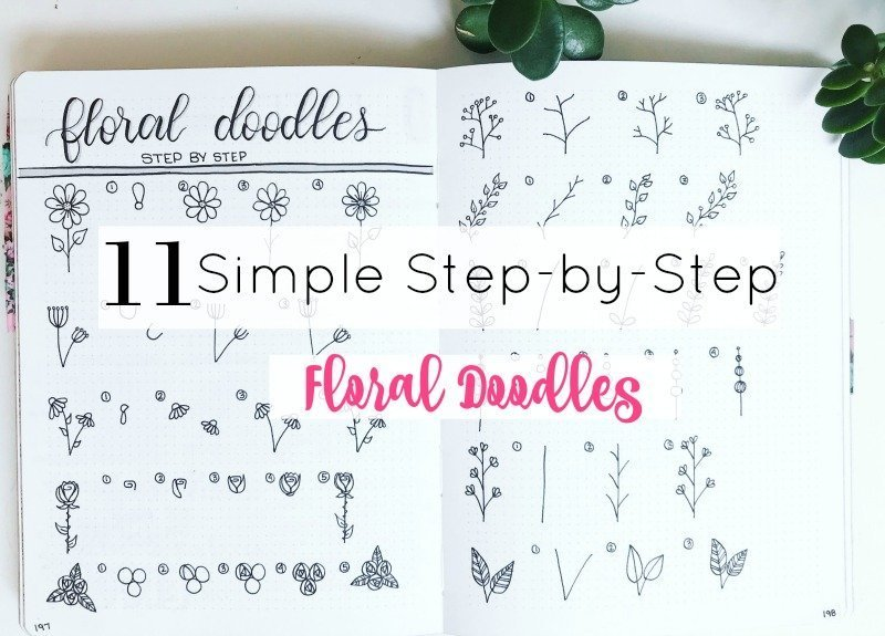 Simple Step-by-Step Floral Doodles