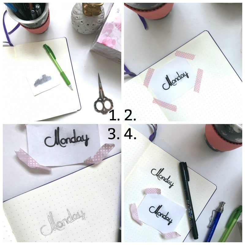 Bullet Journal Hack for Easy Brush Lettering