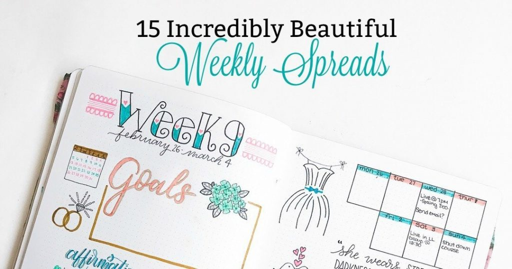 15 Incredibly Beautiful Weekly Spreads