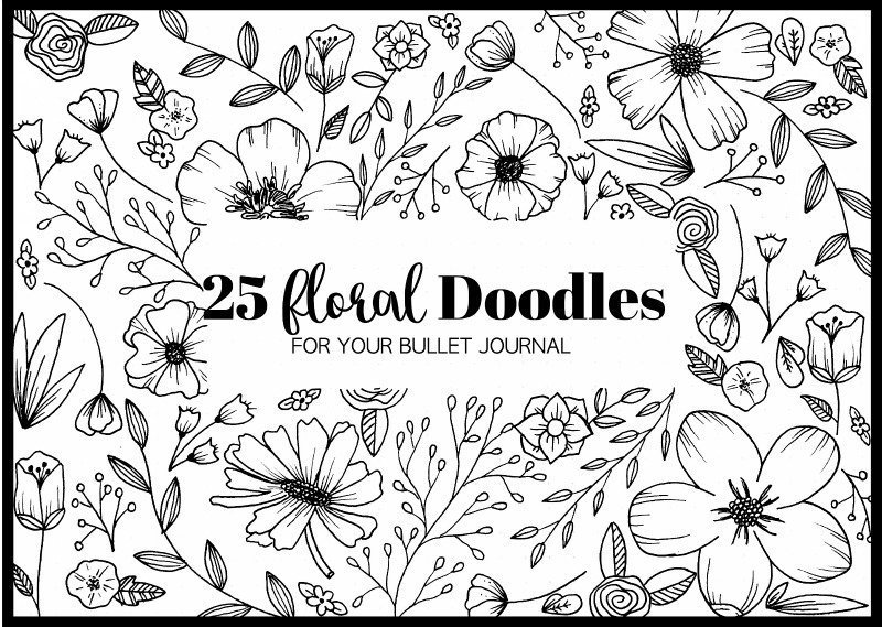25 Floral Doodles for your Bullet Journal - The Petite Planner