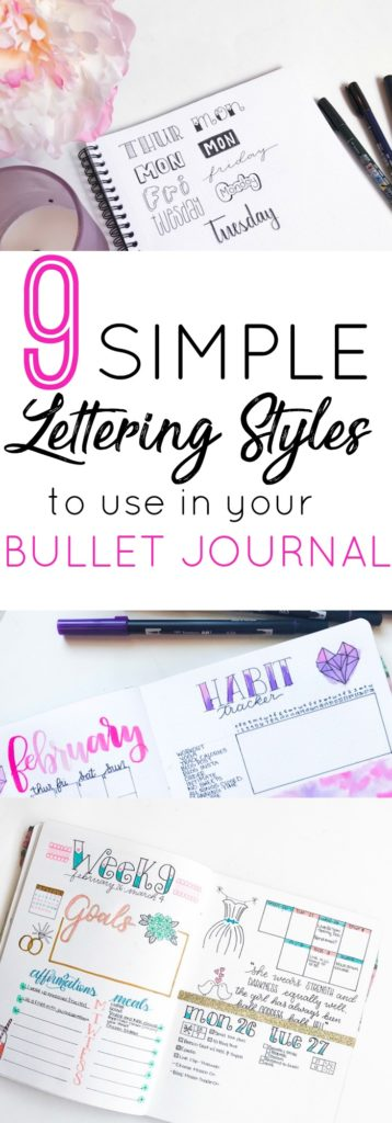 9 Simple Lettering Styles for Your Bullet Journal - The ...