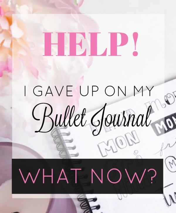 I gave up on my bullet journal. Now what?