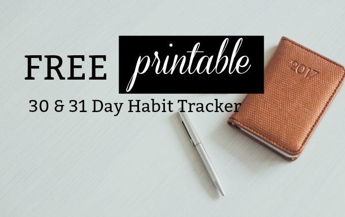 Free Printable A5 Habit Tracker
