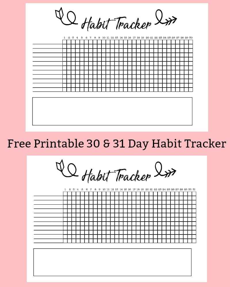 Free Printable Habit Tracker for Your Bullet Journal
