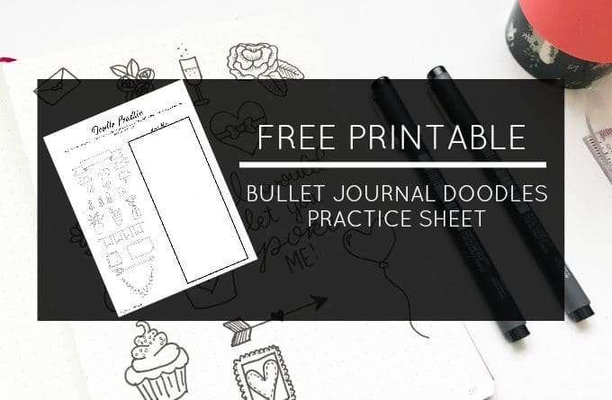 Free Printable Bullet Journal Doodles Practice Sheet