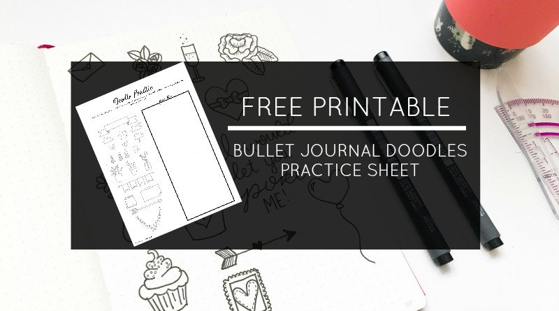 Free Printable Bullet Journal Doodles Practice Sheet