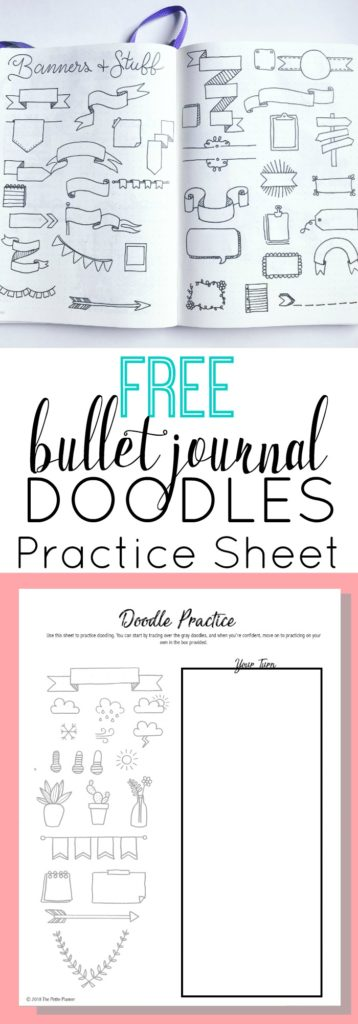 Free Bullet Journal Doodles Printable Practice Sheet