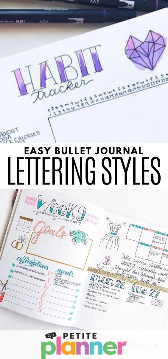 Easy Bullet Journal Lettering Styles
