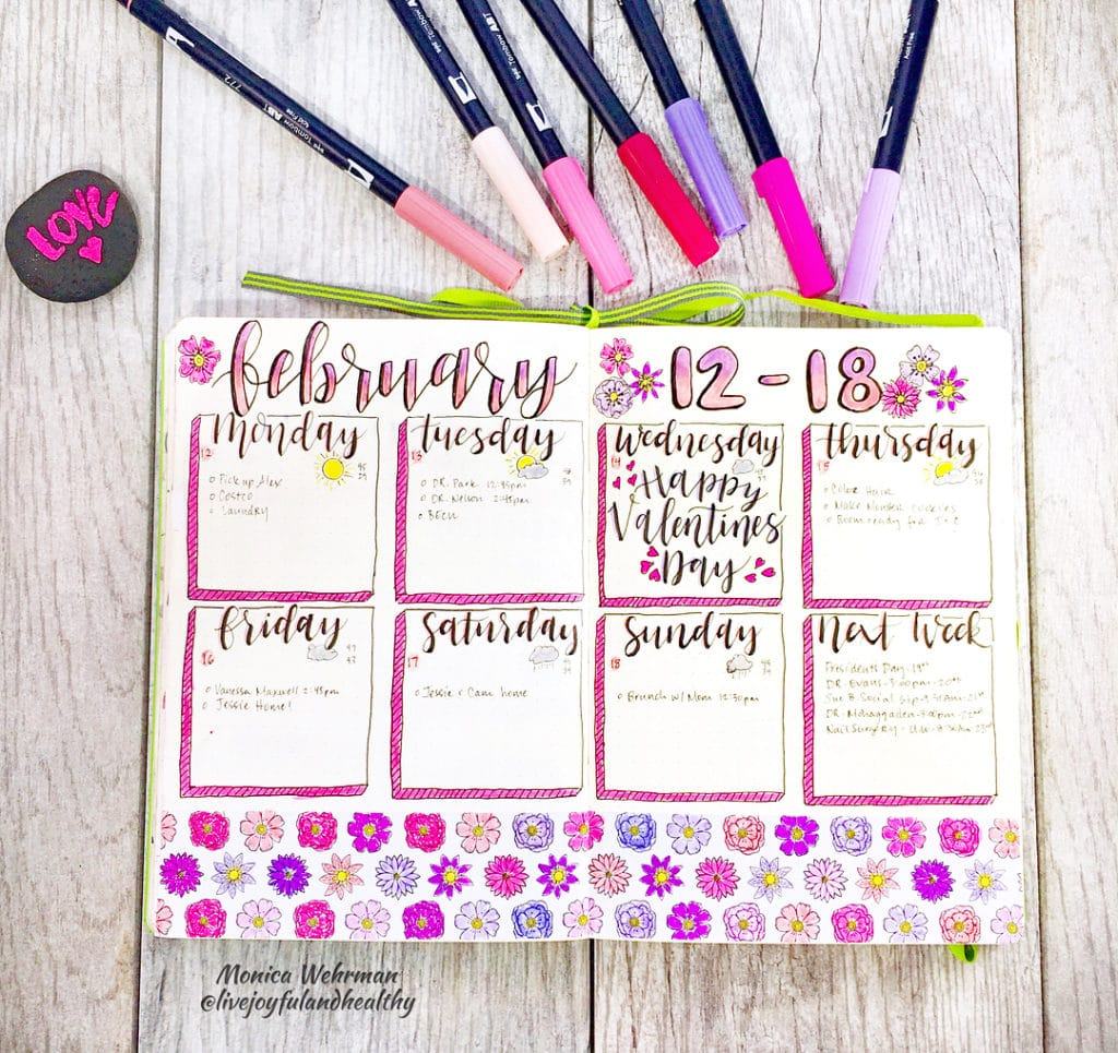 15 Incredibly Beautiful Weekly Spreads. Spread by @livejoyfulandhealthy