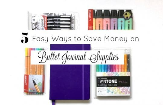 5 Easy Ways to Save Money on Bullet Journal Supplies