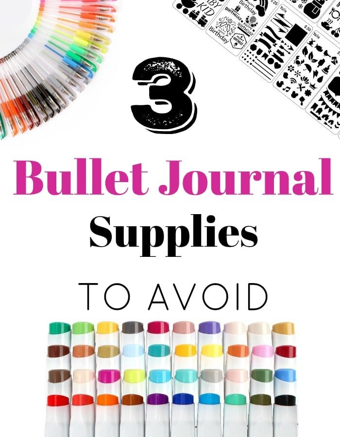 3 Bullet Journal Supplies to Avoid
