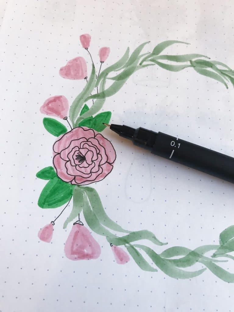 Using Tombow Dual Brush Pens for Drawing Florals