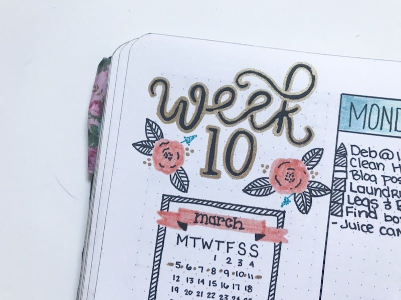 Black and Gold Header for Your Weekly Spread