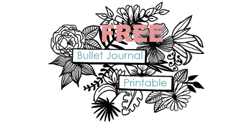 Free Bullet Journal Printable Floral Headers Circular Calendar