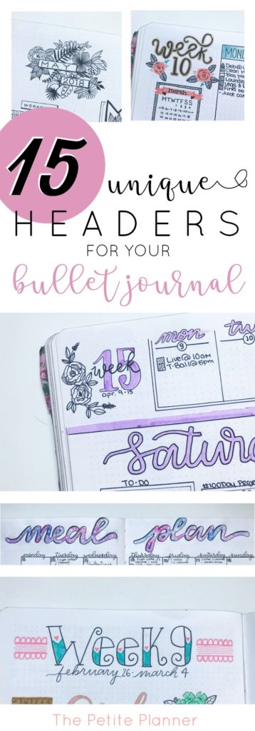 15 Unique Headers You'll Want to Try In Your Bullet Journal