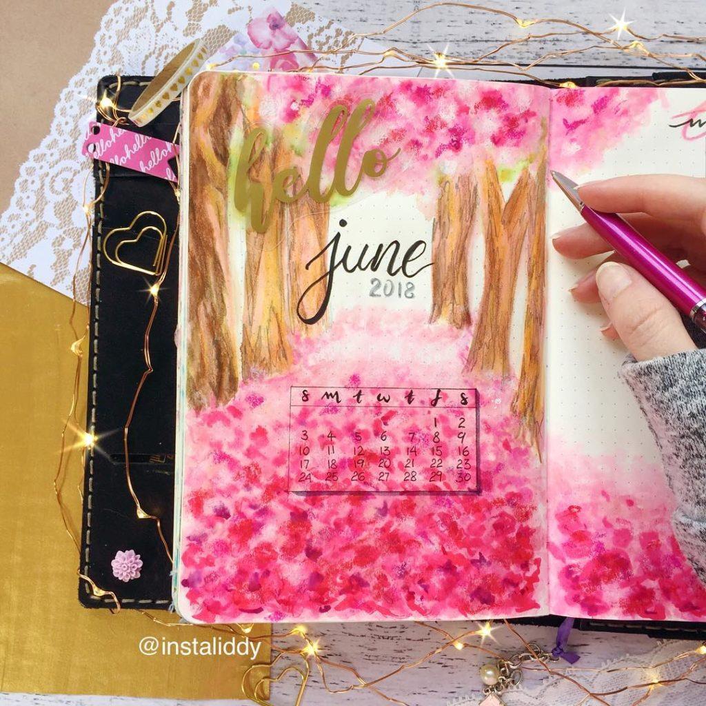 Gorgeous Pink Bullet Journal Theme Ideas