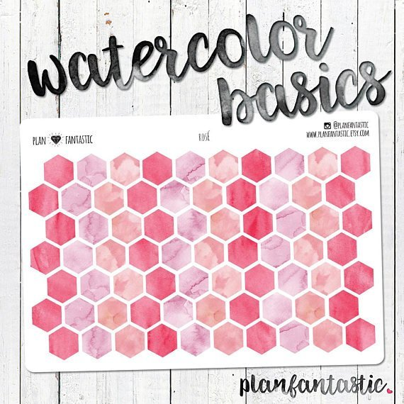 Pink Watercolor Planner Stickers