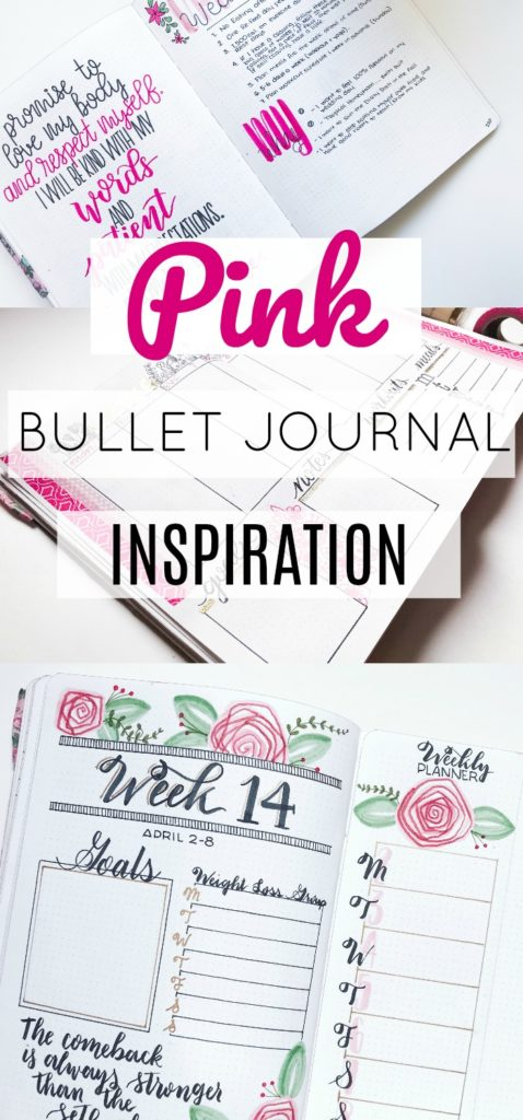 Pink Bullet Journal Ideas and Inspiration