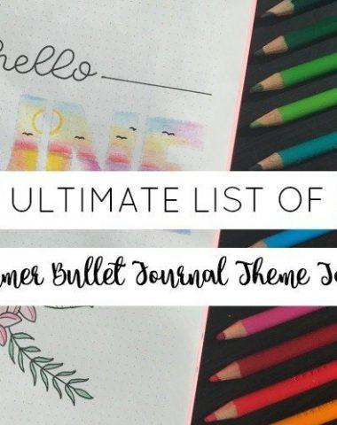 Ultimate List of Summer Bullet Journal Theme Ideas
