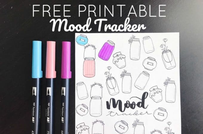 Free Printable Mood Tracker: Mason Jar Design
