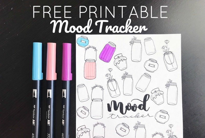 Free Printable Mood Tracker for Your Bullet Journal