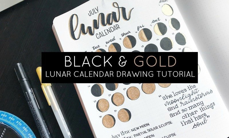 How to Draw a Lunar Calendar in Your Bullet Journal