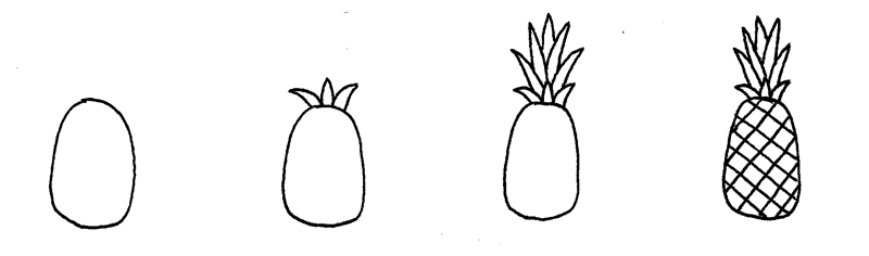 How to Doodle Pineapple