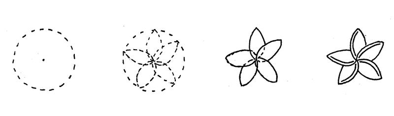 How to Doodle Plumeria Flower