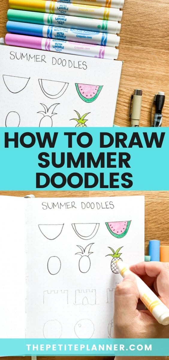 Learn how to do cute summer drawings with this doodle tutorial