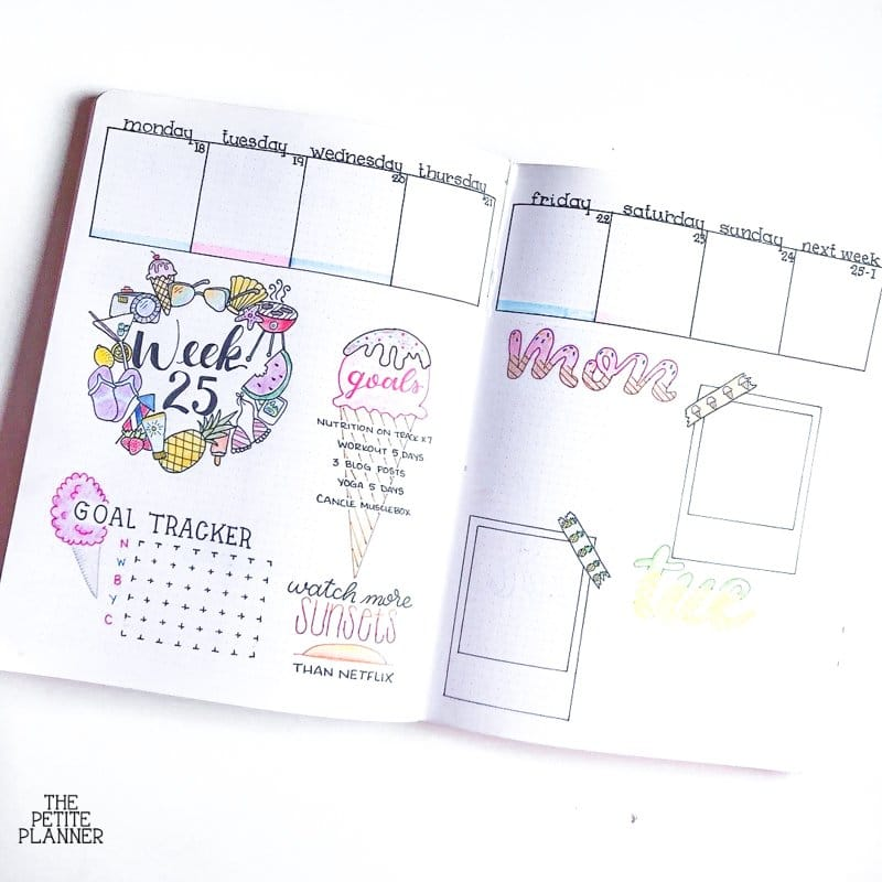 Summer bullet journal ideas