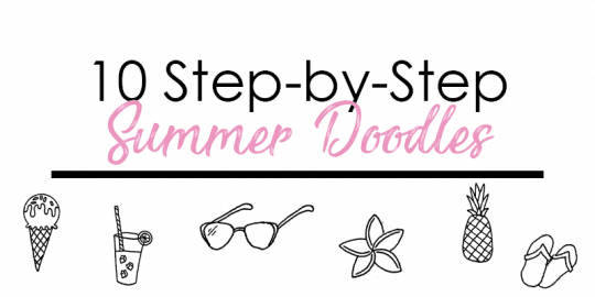 10 Step-by-Step Summer Doodles for your Bullet Journal