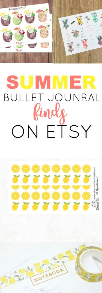 Summer Bullet Journal Finds on Etsy