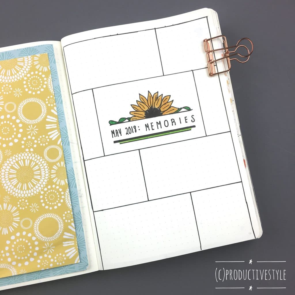 Bullet Journal Memories Page Ideas