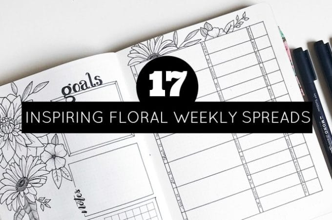 17 Inspiring Floral Weekly Spreads