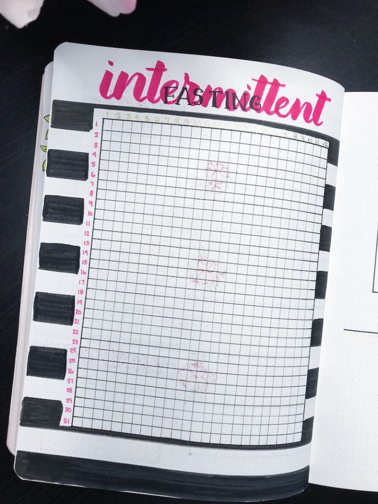 Intermittent Fasting Tracker for your bullet journal