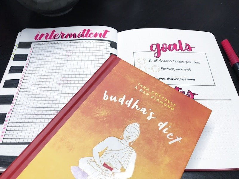 Buddah's Diet and Intermittent Fasting in your bullet journal