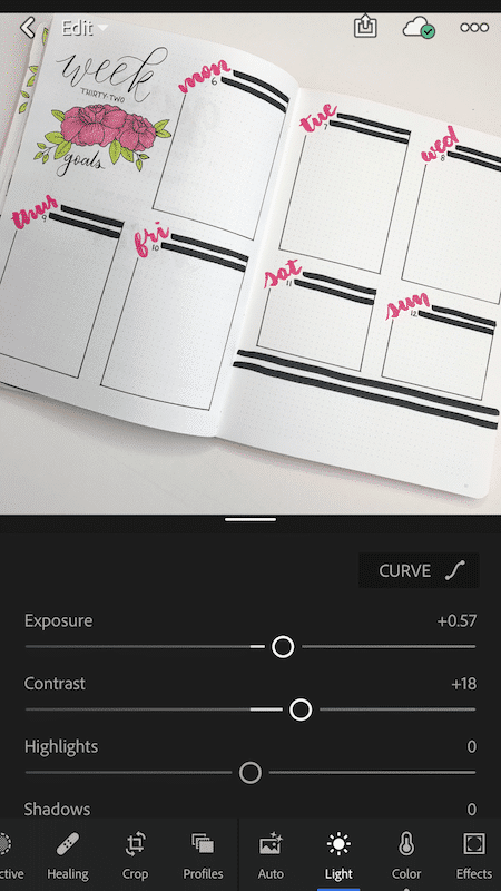 How to Take and Edit Bullet Journal Photos for Instagram