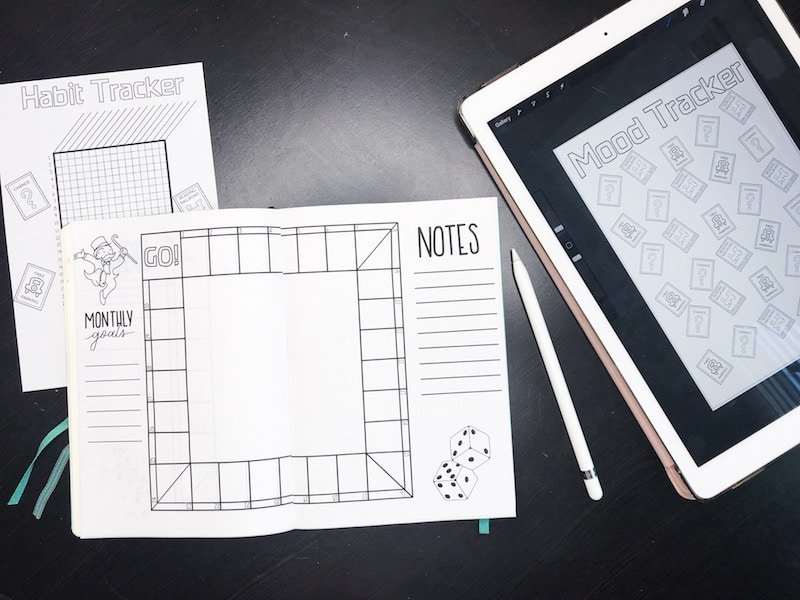 Using my iPad Pro to create bullet journal printables