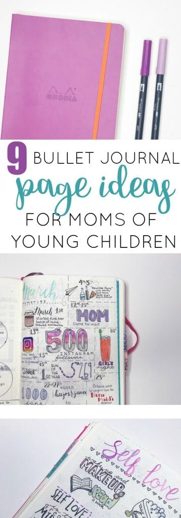 9 Bullet Journal Page Ideas for Moms of Young Children