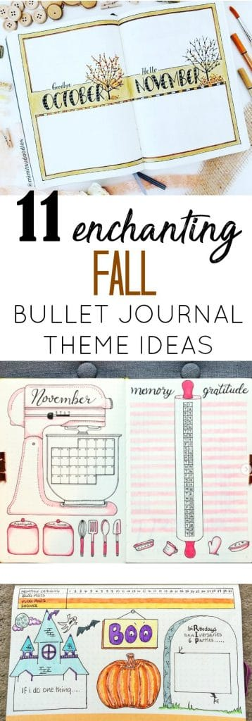 11 Enchanting Fall Bullet Journal Themes