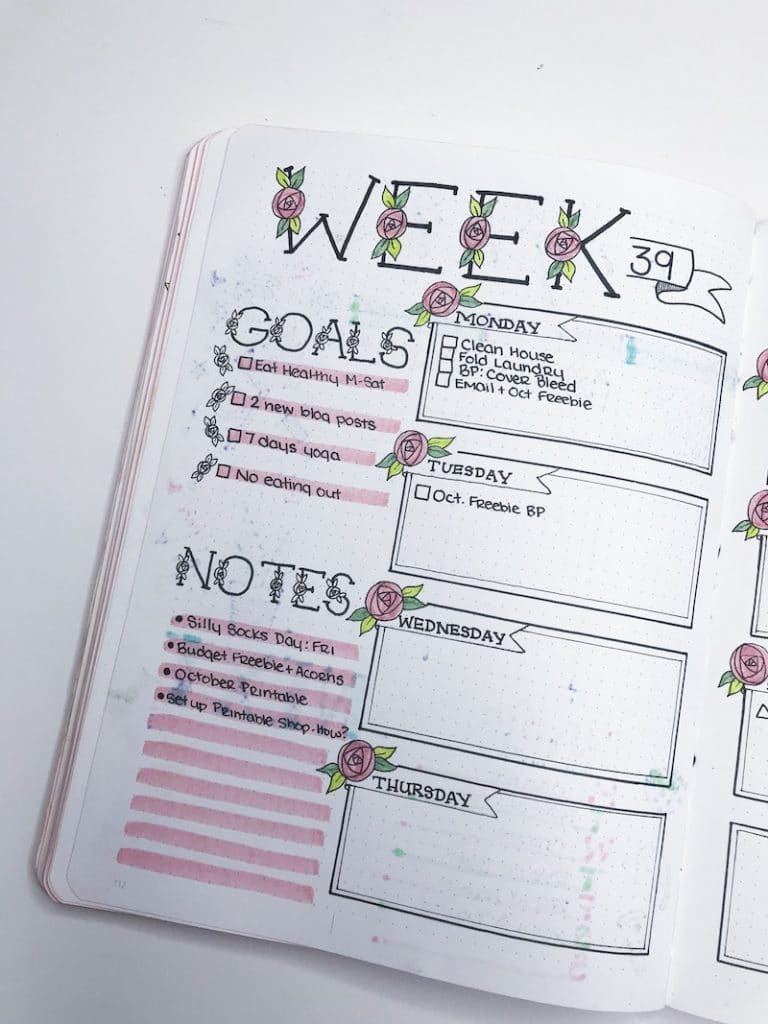 Fixing Ghosting in Your Bullet Journal