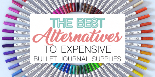 The Best Alternatives to Expensive Bullet Journal Supplies