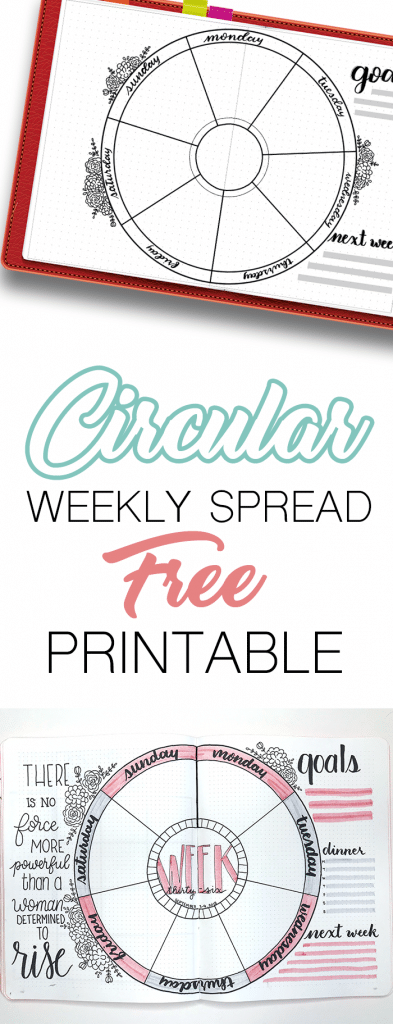 Free Circular Weekly Spread for Your Bullet Journal